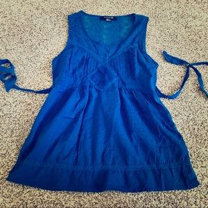 4 for $20 Forever 21 Blue Lace Sleeveless Top